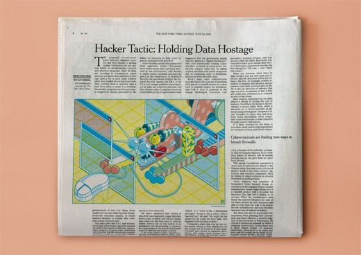 (III) The New York Times, Hacker Tactic: Holding Data Hostage (2014), editorial, 19½ � 13½ cm
