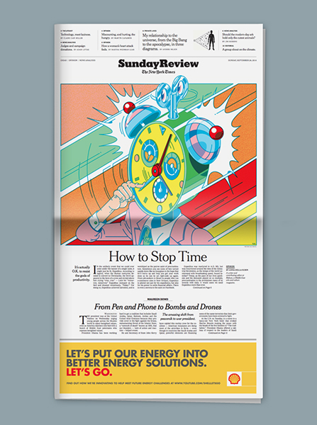 (I) New York Times, How to Stop Time (2014), editorial, 24 � 29 cm