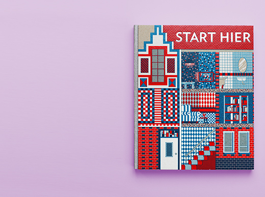 (XI) Ymere, Start Hier (2013), book design, in collaboration with Hansje van Halem, offset, 16 � 19 cm